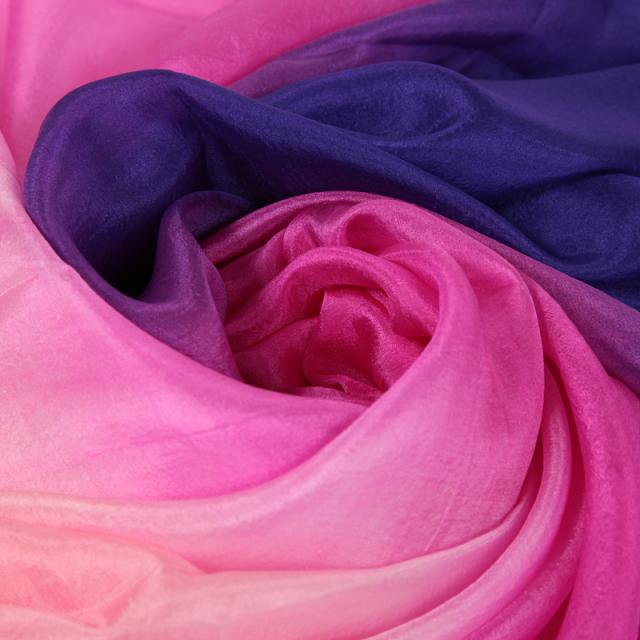 高級シルクベールR5-9-Lサイズ276cm*110cm(青紫・ピンク・ライトピンク)【ネコポス便送料無料】