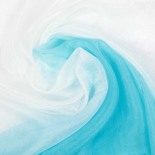 高級シルクベールR9-5Lサイズ276cm*110cm(ライトブルー、ホワイト)【ネコポス便送料無料】