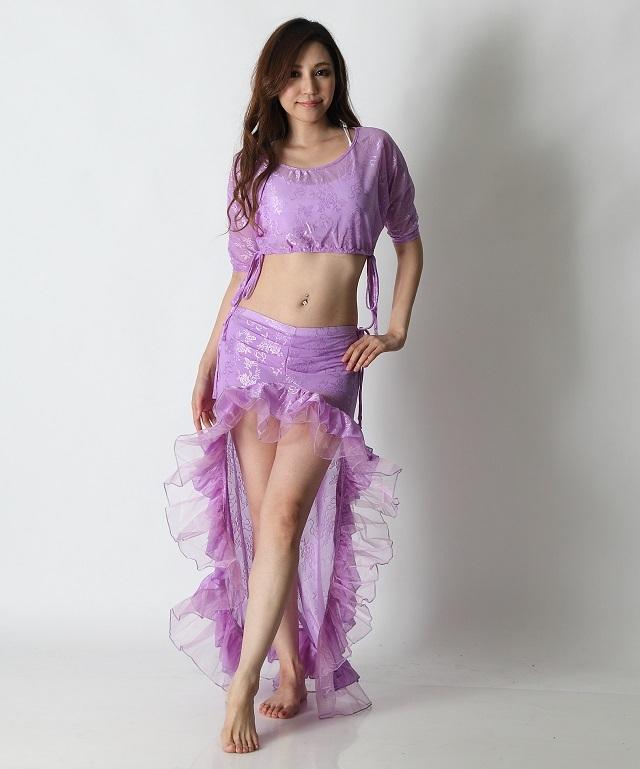 【SALE】オーバースカートSK19パステルフリル(lavender)【宅配便送料無料】