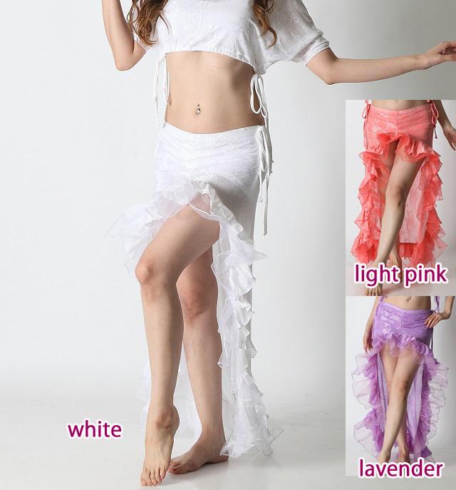 【SALE】ベリーダンスレッスンスカートSK19パステルフリル(3 colors)【宅配便送料無料】