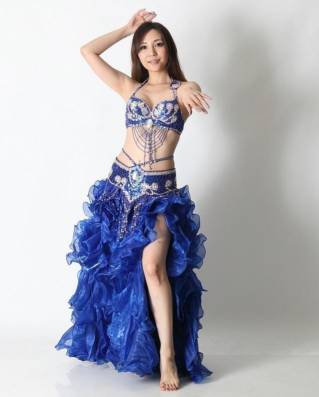 ベリーダンスコスチュームCH-COS-A1-84(blue)【宅配便送料無料】
