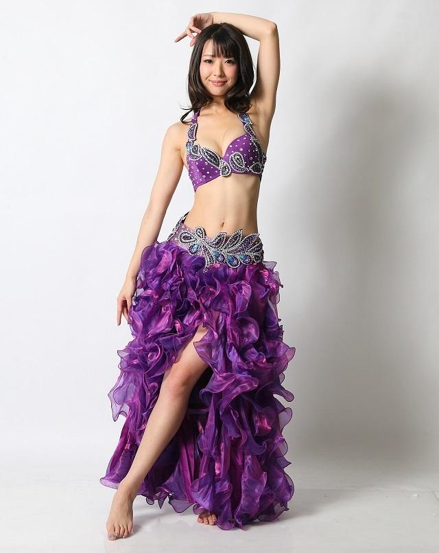 ベリーダンスコスチュームCH-COS-A22-21(purple)(S-Mサイズ)(L-LLサイズ)【宅配便送料無料】