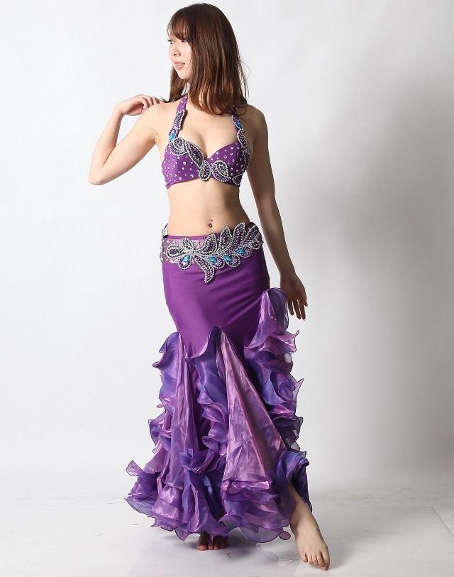 ベリーダンスコスチュームCH-COS-A22-22(purple)(S-Mサイズ)(L-LLサイズ)【宅配便送料無料】