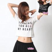 トップスC256半袖ロゴTシャツ(SENDING YOU ALL MY HEART)(2colors)【ネコポス便送料無料】