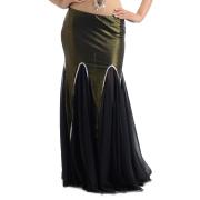 ベリーダンス衣装スカートD7(ブラック)ゴールド/シルバー【宅配便送料無料】
