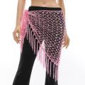 ベリーダンス☆カギ編みヒップスカーフA10☆大人の女性にぴったり(ライトピンク)【ネコポス便送料無料】