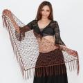 ベリーダンス☆カギ編みヒップスカーフA10☆大人の女性にぴったり(ブラウン)【ネコポス便送料無料】