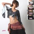 ヒップスカーフA158ペイズリーフリル(5 colors)【ネコポス便送料無料】