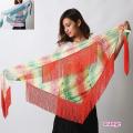 【SALE】ヒップスカーフA163グラデーションフリンジ付き(2 colors)【ネコポス便送料無料】