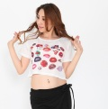 チョリC182半袖ロゴTシャツ(キスマーク)(ホワイト)【ネコポス便送料無料】