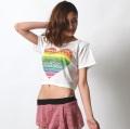 チョリC240半袖プリントTシャツ(レインボーハート)【ネコポス便送料無料】