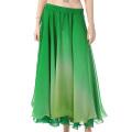 ベリーダンス衣装グラデーションスカートD13(グリーン×ライトグリーン)【宅配便送料無料】
