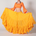 【SALE】ベリーダンスの25ヤードスカートD25Aコットン(イエロー)