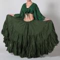 【SALE】ベリーダンスの25ヤードスカートD25Aコットン(ダークグリーン)