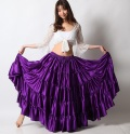25ヤードスカートD25Sサテン単色(purple)