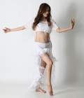 【SALE】オーバースカートSK19パステルフリル(white)【宅配便送料無料】