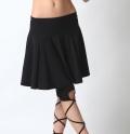 ベリーダンスレッスン用スカートSK67-1シンプルフレア(4998)(black)【ネコポス便送料無料】