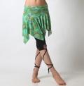 【セール】オシャレ度Up!ベリーダンス用レッスンスカートSK69-2ペイズリープリント柄(8416)(エメラルドグリーン)【ネコポス便送料無料】
