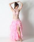 格安ベリーダンスコスチュームCH-COS-A11-82(pink)発表会、イベントに最適【宅配便送料無料】