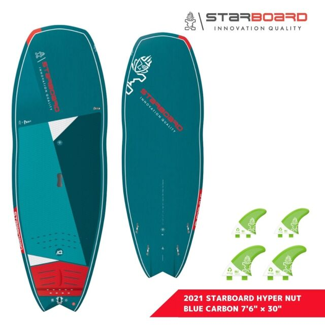 """【STARBOARD】 2021 STARBOARD HYPER NUT BLUE CARBON 7'6"""" x 30"""" スターボード ハイパーナッツ ブルーカーボン SUP サップ"""