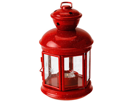 【GSI outdoor ジーエスアイ】Fiesta Candle Lantern- Red