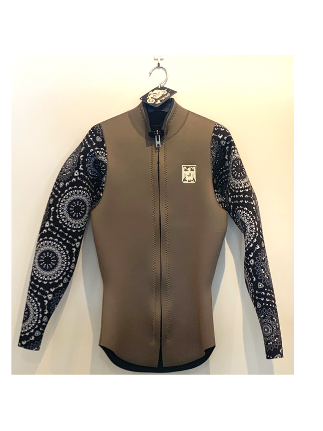 【TRUMP WET SUIT】men's SUP JACKET L ミリタリー/マンダラ 3mm