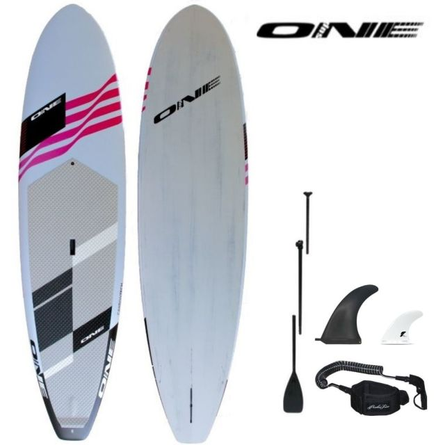 "20%OFF 【ONE ワン】 ONE SUP SURF L.BLUE 10'0""×30"" 147.5L アルミパドル・リーシュコード・フィンセット"
