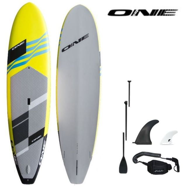 "20%OFF 【ONE ワン】 ONE SUP SURF YELLOW 10'0"" × 30"" 147.5L アルミパドル・リーシュコード・フィンセット"