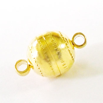 マグネットクラスプ#02(ボール型) ゴールド