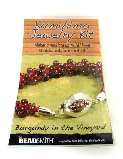 Kumihimo Jewelry Kit (Burgundy in the Vineyard)