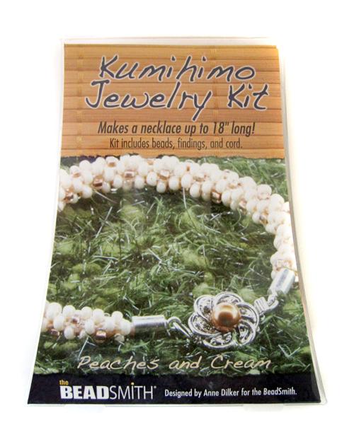 Kumihimo Jewelry Kit(Peaches and Cream)