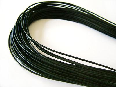 ヨーロッパ製レザーコードΦ1.5mm(ブラック)