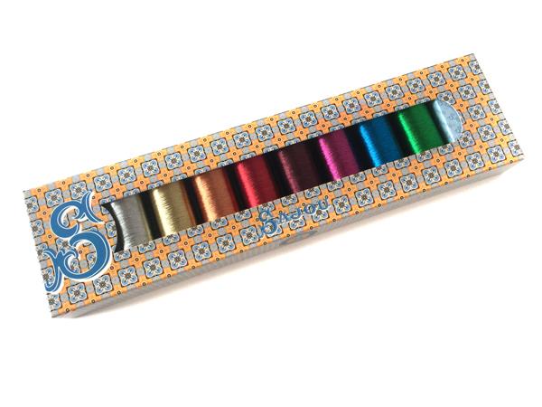 ★オートクチュール刺繍糸メタリック8色セレクトセット化粧箱付き