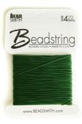 ナイロンビーズストリング糸#4(カード)22yd/グリーン