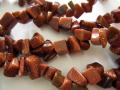 ブラウンゴールドストーン(茶金石) さざれ 約90cm(36インチ)