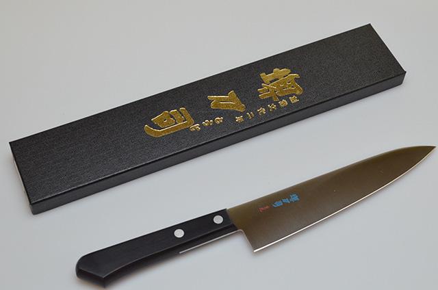 【和泉利器製作所】堺刀司 重光 剣型庖丁 180mm