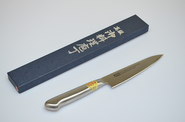 【川澤刃物工業】ペティナイフ オールステンレス135mm