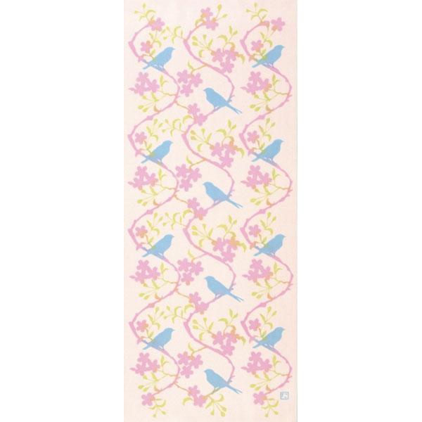 【にじゆら】手ぬぐい blossom  ピンク