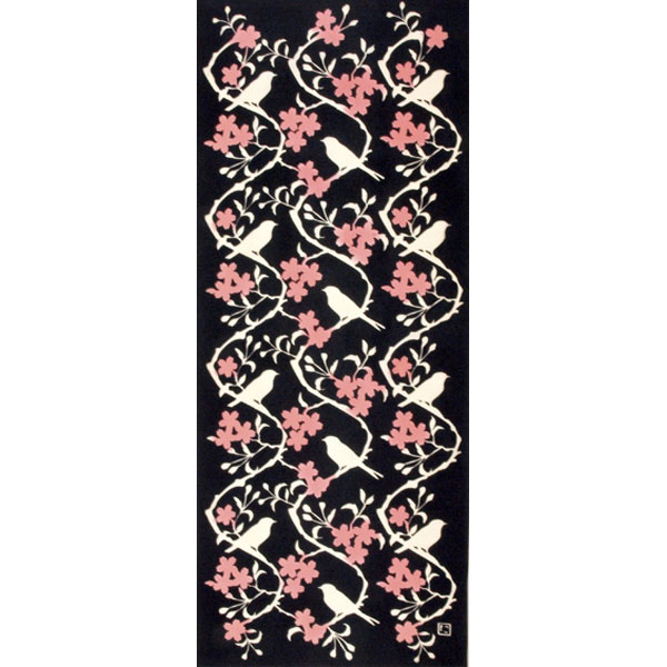 【にじゆら】手ぬぐい blossom  黒