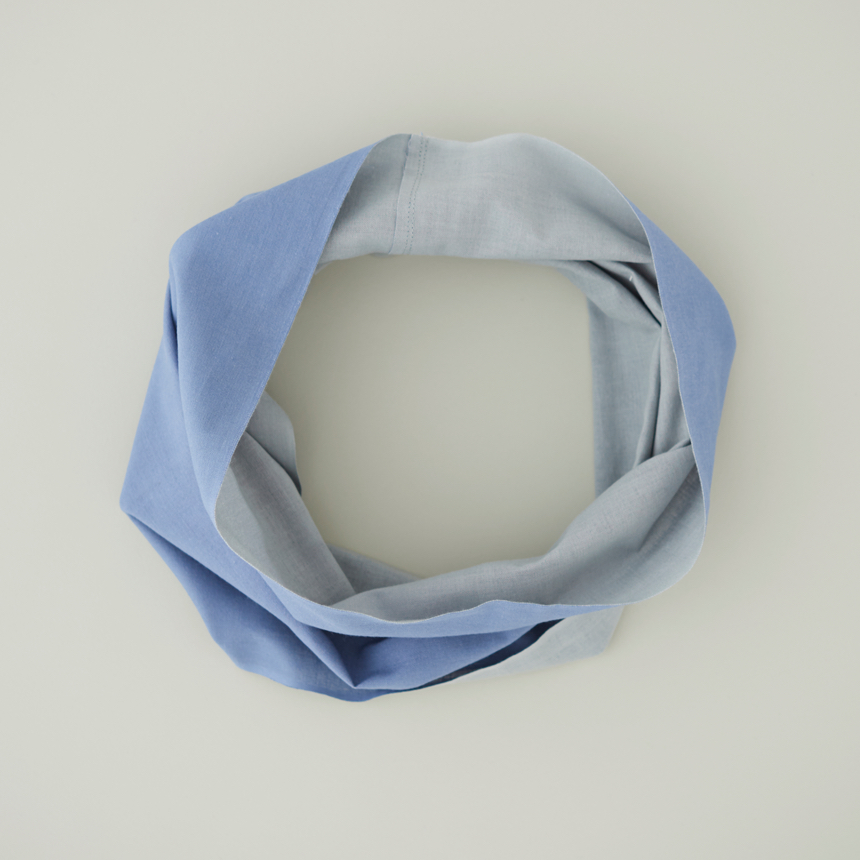 【竹野染工】手ぬぐいOo(ワオ)Blue × Gray Lサイズ