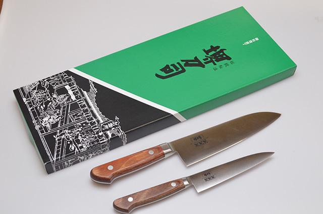 【和泉利器製作所】モリブデン鋼2丁セット(三徳・ペティ)