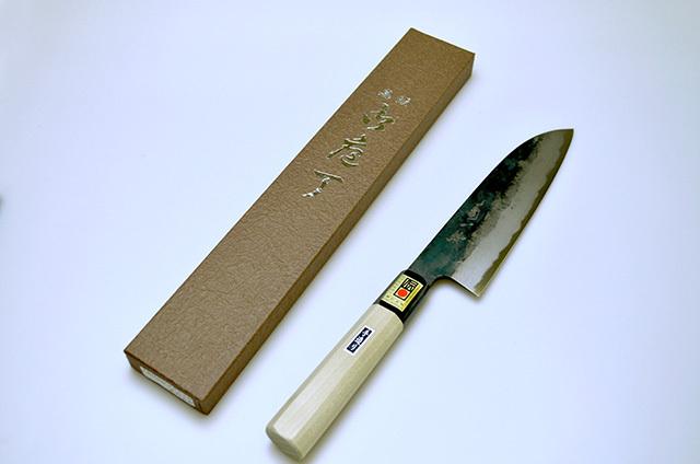 【伊野忠刃物製作所】菊一鉄 黒打文化包丁 180mm