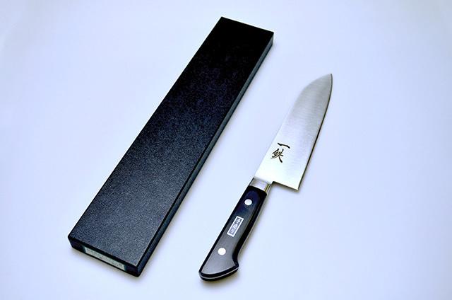 【伊野忠刃物製作所】菊一鉄 文化包丁 180mm モリブデン鋼