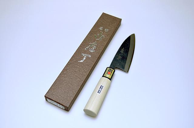 【伊野忠刃物製作所】菊一鉄 アジ裂包丁 120mm