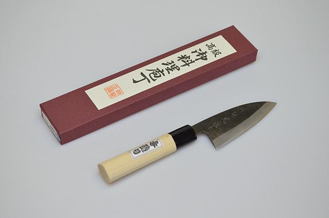 【川澤刃物工業】堺保光作 アジ切包丁 105mm