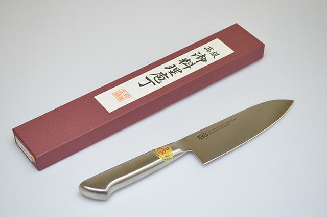 【川澤刃物工業】三徳包丁 オールステンレス165mm
