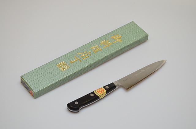 【ダイキチ】堺源吉作 口金付きV10 モリブデン鋼 ペティナイフ 120mm