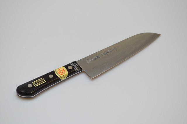 【ダイキチ】堺源吉作 白銀三層鋼 ホーム型包丁180mm