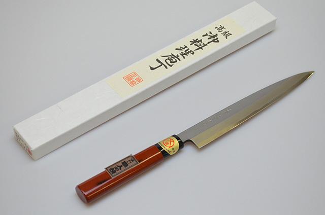 【ダイキチ】堺源吉作 柳刃包丁 210mm