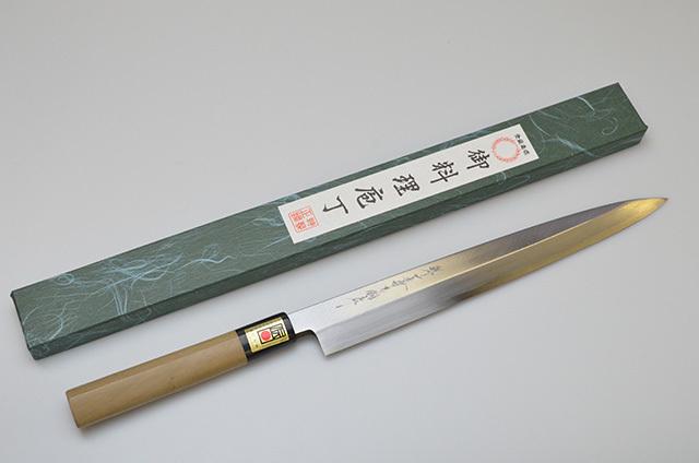 【ダイキチ】堺一文字吉國作 柳刃包丁 270mm